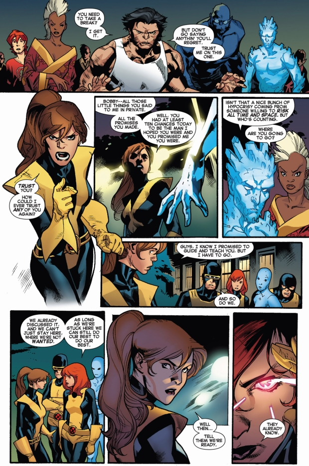 kitty pryde and the original 5 x-men joins cyclops's team