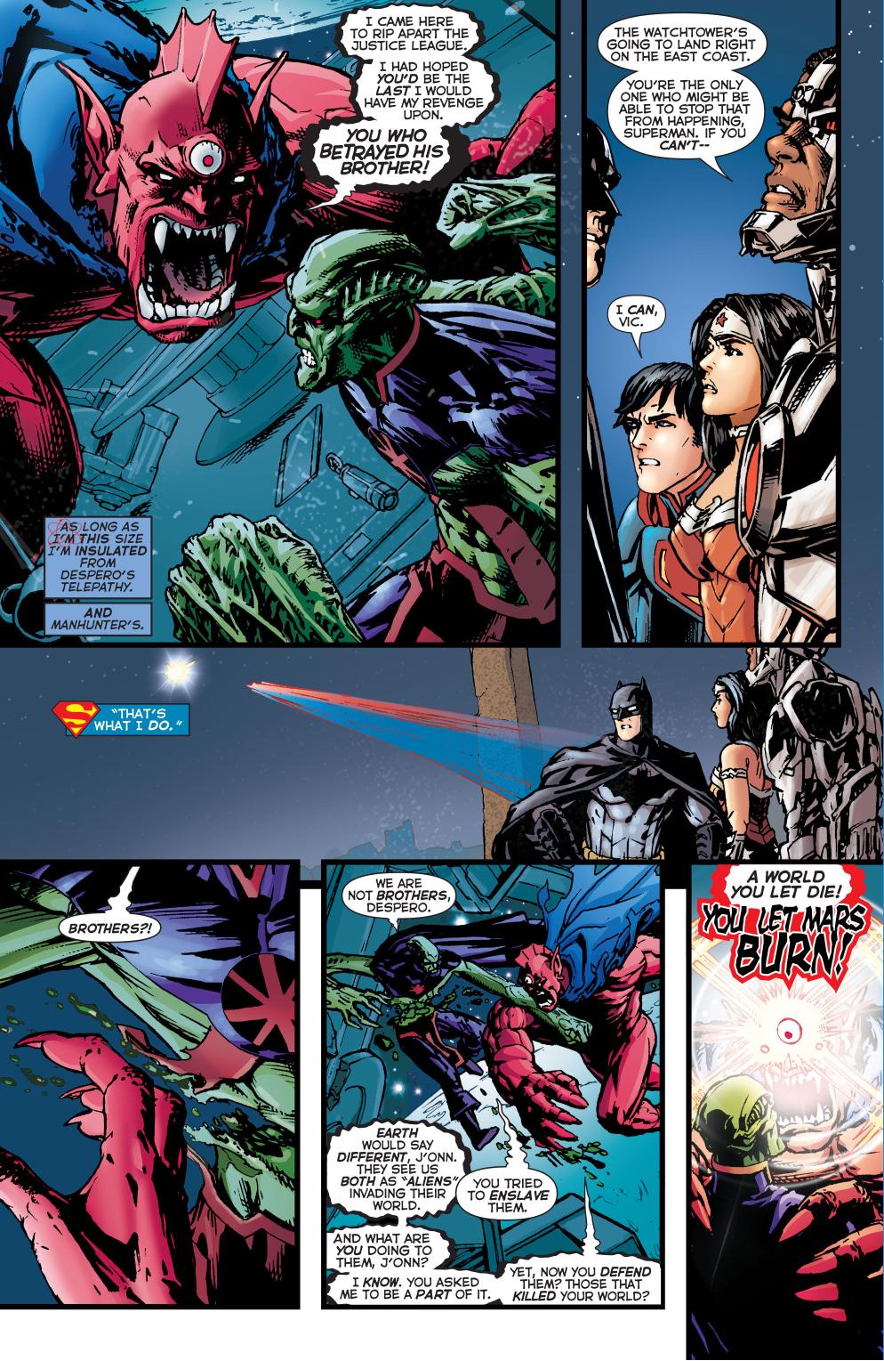 Martian manhunter vs batman