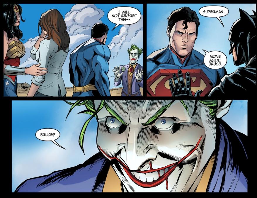 superman calls batman bruce in front of the joker