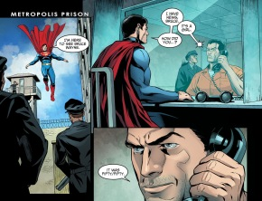 superman visits batman in jail