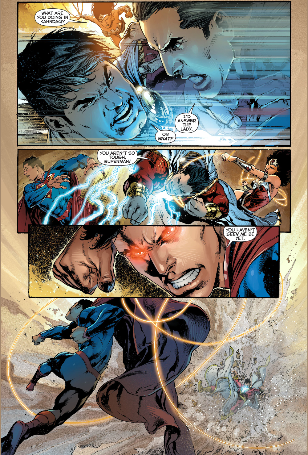 Superman VS Shazam New 52