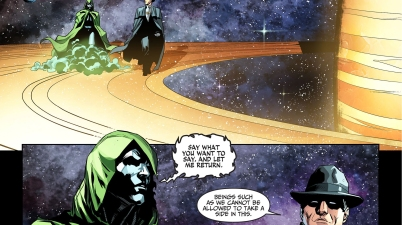 the spectre attacks the phantom stranger