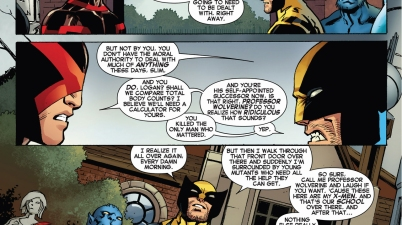 wolverine is proud of his school