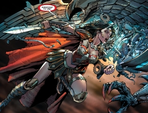 wonder woman vs man-eating stymphalian birds