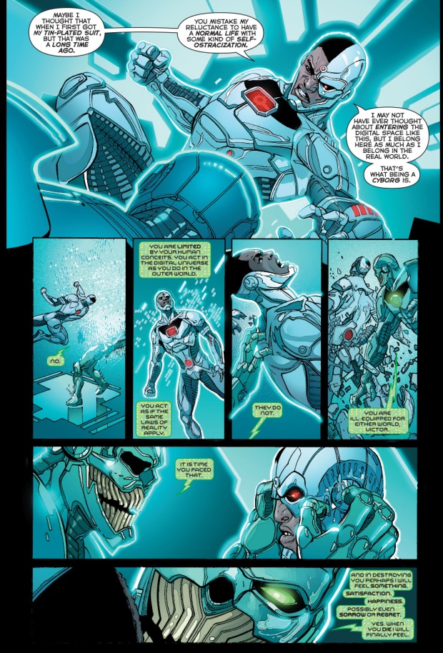 cyborg vs grid comicnewbies