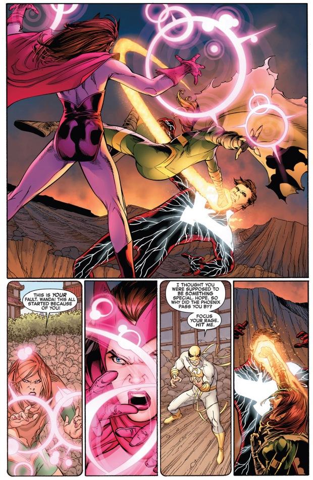 hope summers and scarlett witch vs dark phoenix cyclops