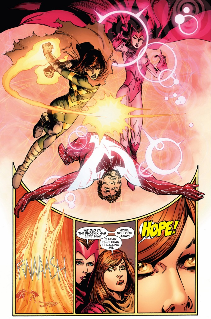 hope summers and scarlett witch vs dark phoenix cyclops