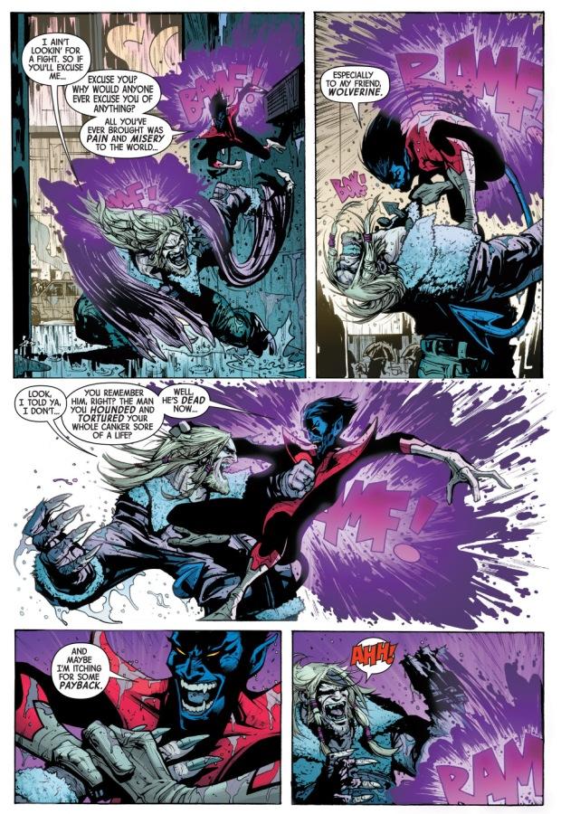 Sabretooth VS Nightcrawler   Comicnewbies