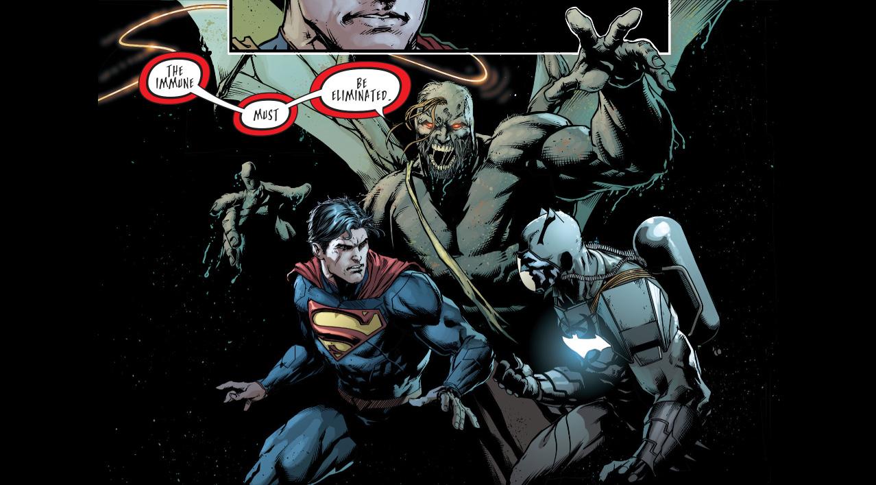 Superman, Batman And Wonder Woman Vs Patient Zero -4416
