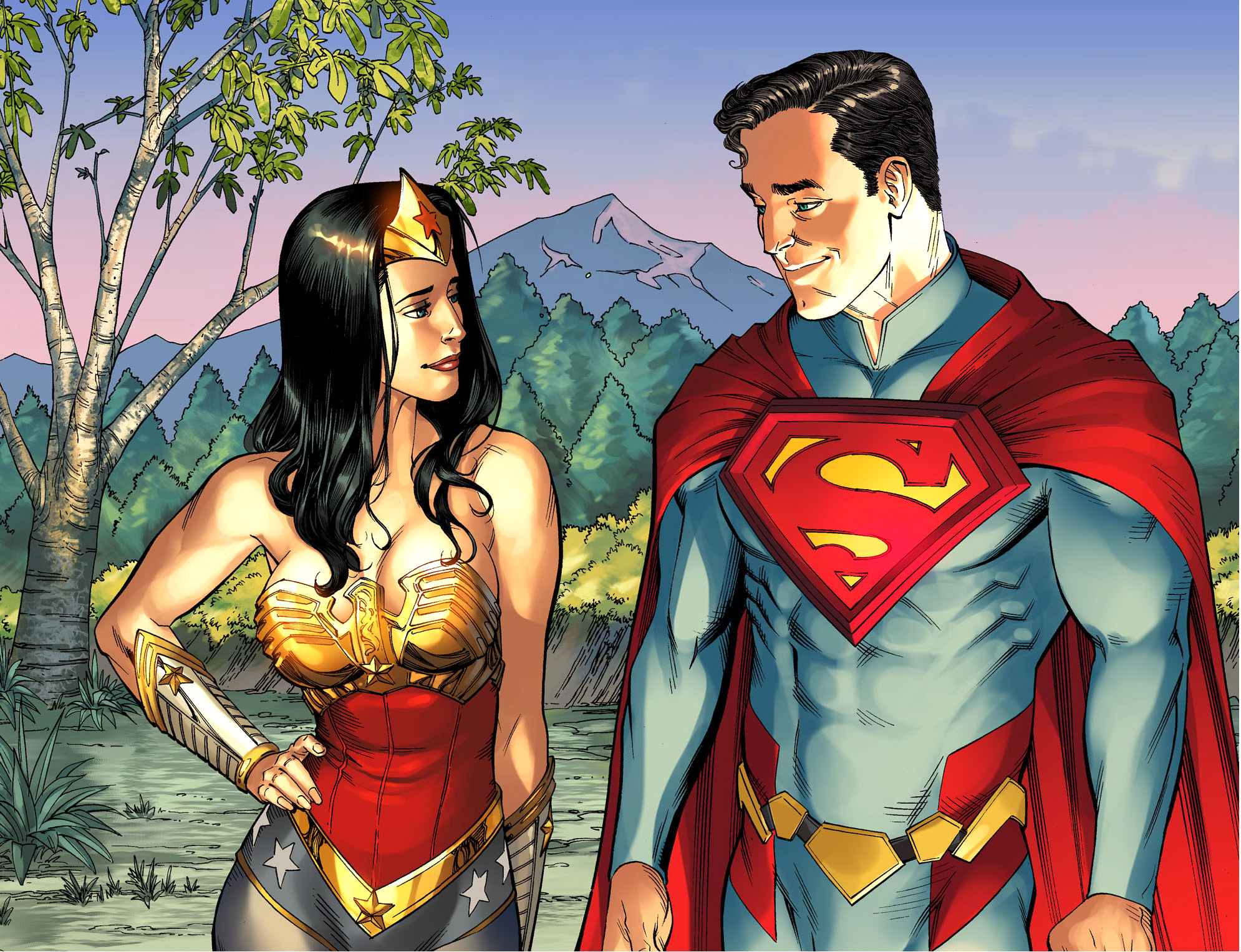 Superman Flirts With Wonder Woman  Comicnewbies-7875