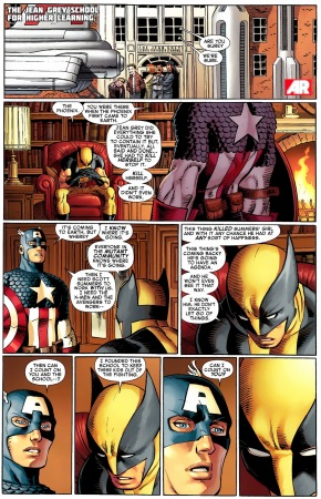 wolverine explains the phoenix to captain america