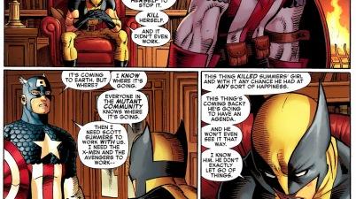 wolverine explains the phoenix to captain america