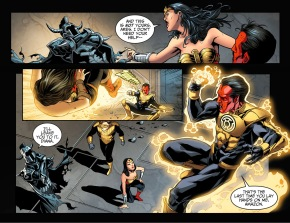 wonder woman vs sinestro