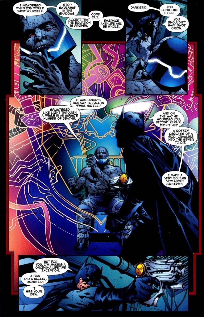 batman shoots darkseid
