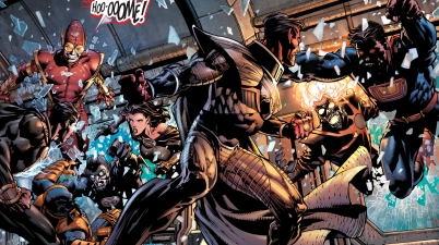 black adam, sinestro and deathstroke vs the crime syndicate