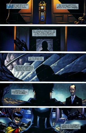 dick grayson assumes the mantle of the bat