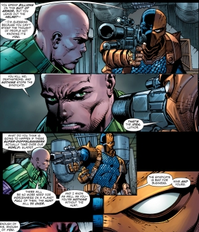 lex luthor hires deathstroke
