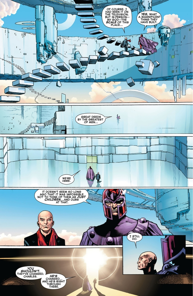 magneto welcomes professor x to utopia