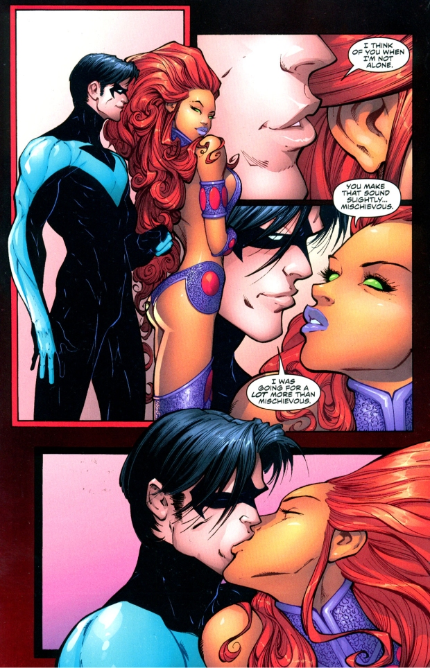 nightwing and starfire influenced by lust