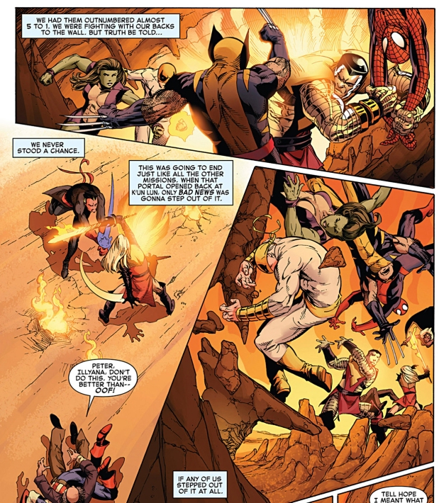 phoenix five colossus and magik vs the avengers