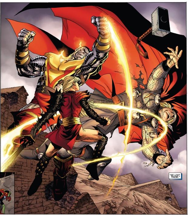 phoenix five colossus and magik vs thor