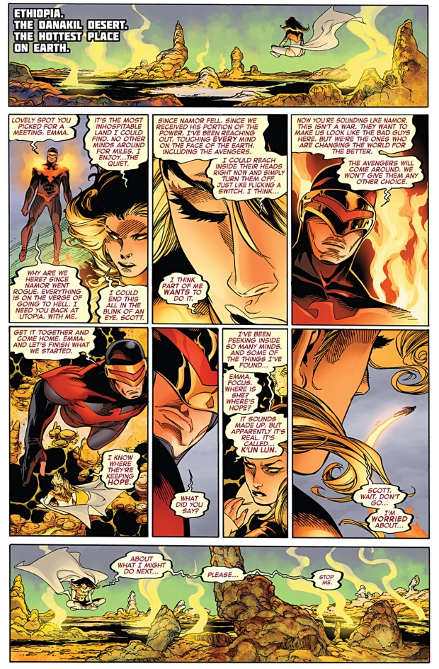 phoenix five emma frost being corrupted