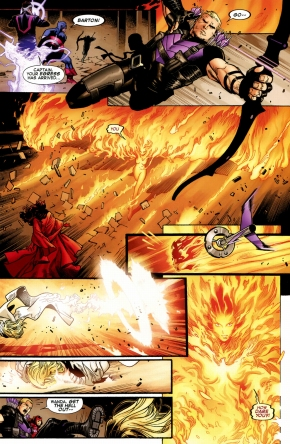phoenix five emma frost incinerates hawkeye