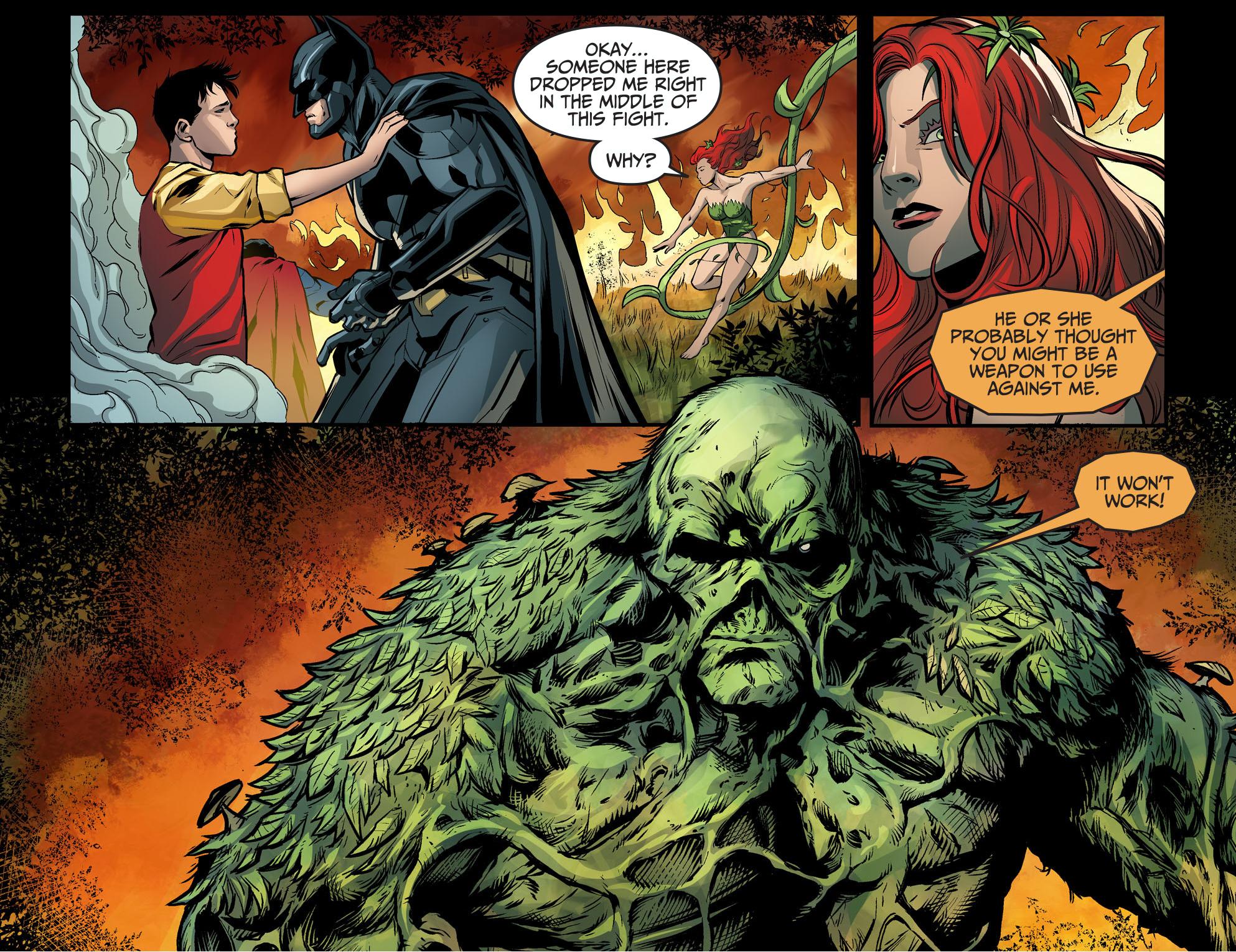 Poison Ivy Vs Swamp Thing Injustice Gods Among Us