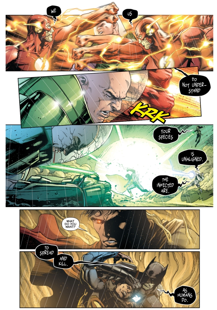 superman, wonder woman and lex luthor vs infected justice league