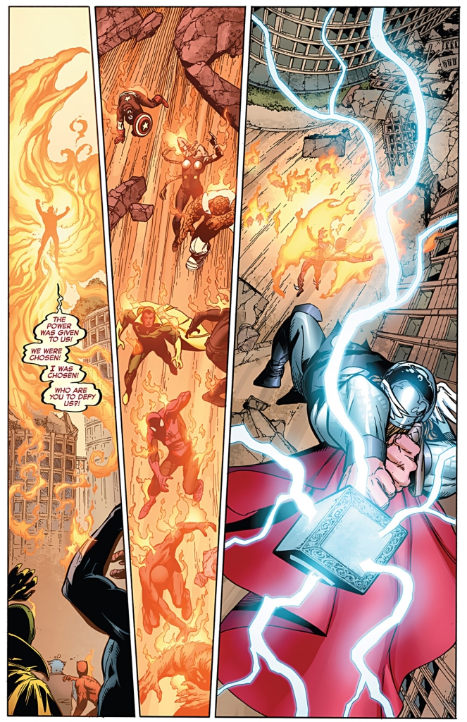 the avengers take down phoenix five namor