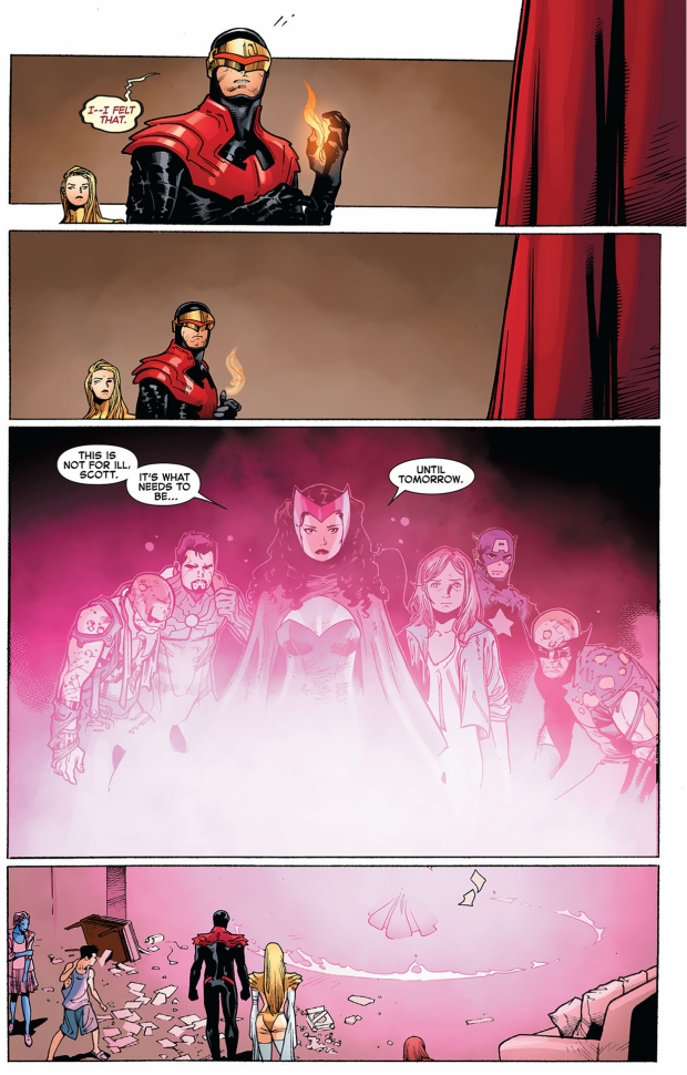 the scarlett witch rescues the avengers