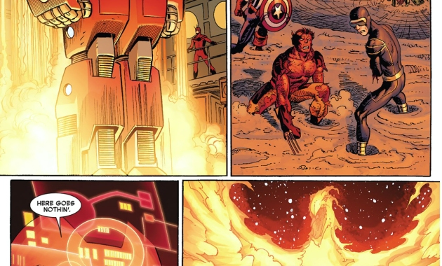 what happened when iron man shot the phoenix