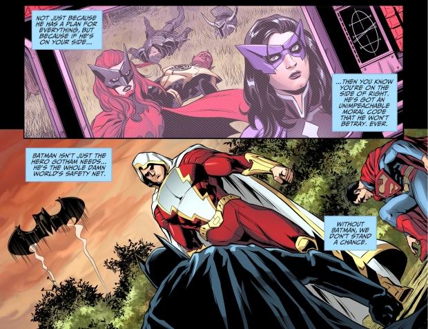 what nightwing thinks of batman
