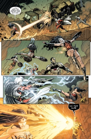 wonder woman and captain cold vs infected justice league