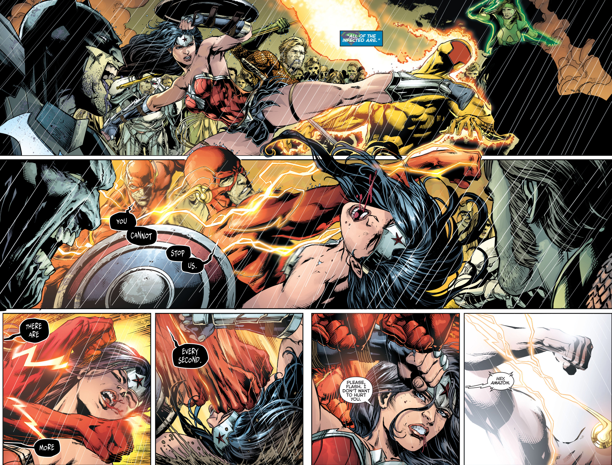 Wonder Woman Beaten Justice League [Scan Battle] T...