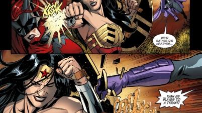 wonder woman kills huntress (injustice gods among us)