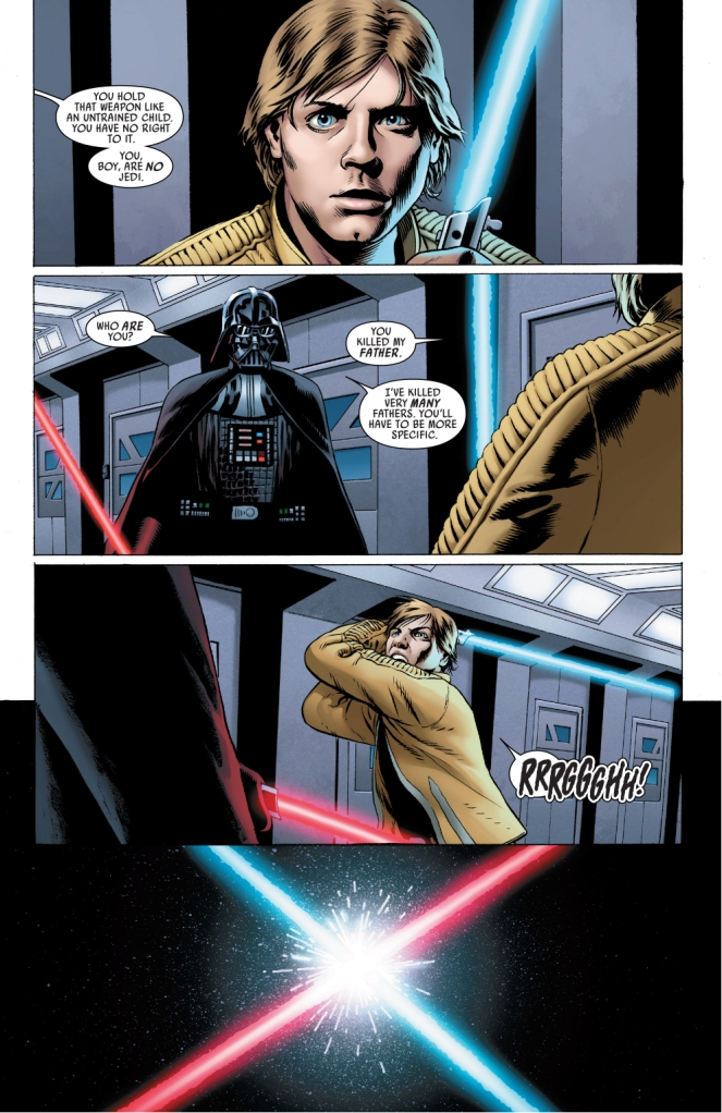 darth vader recognizes his old lightsaber