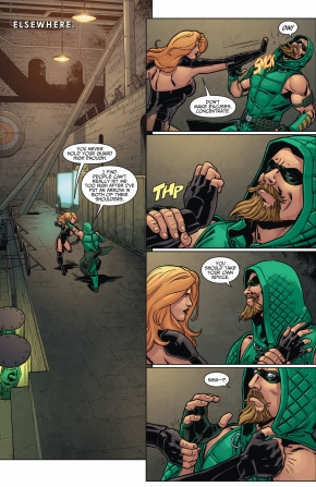 green arrow spars with black canary