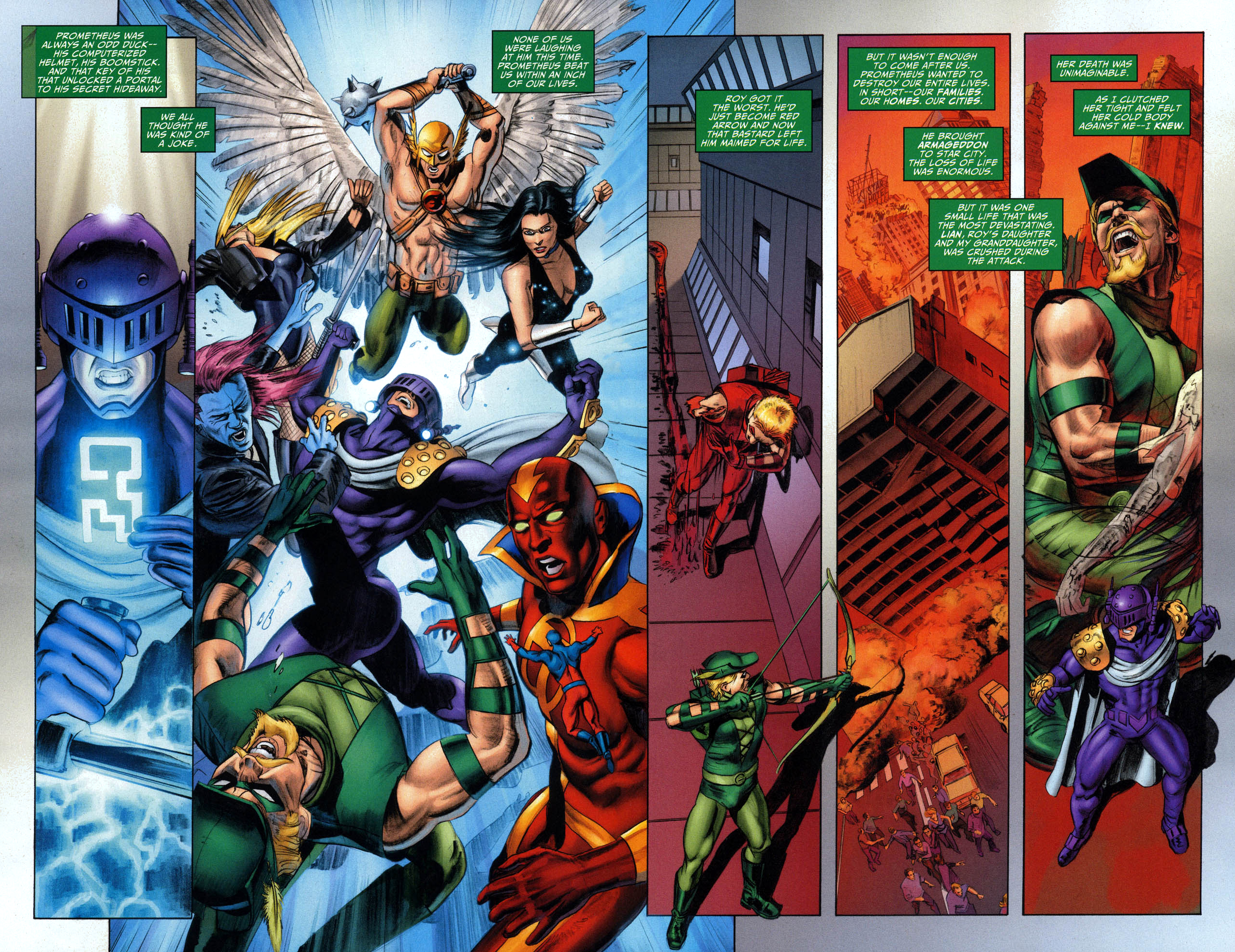Green arrow s reason for killing prometheus comicnewbies