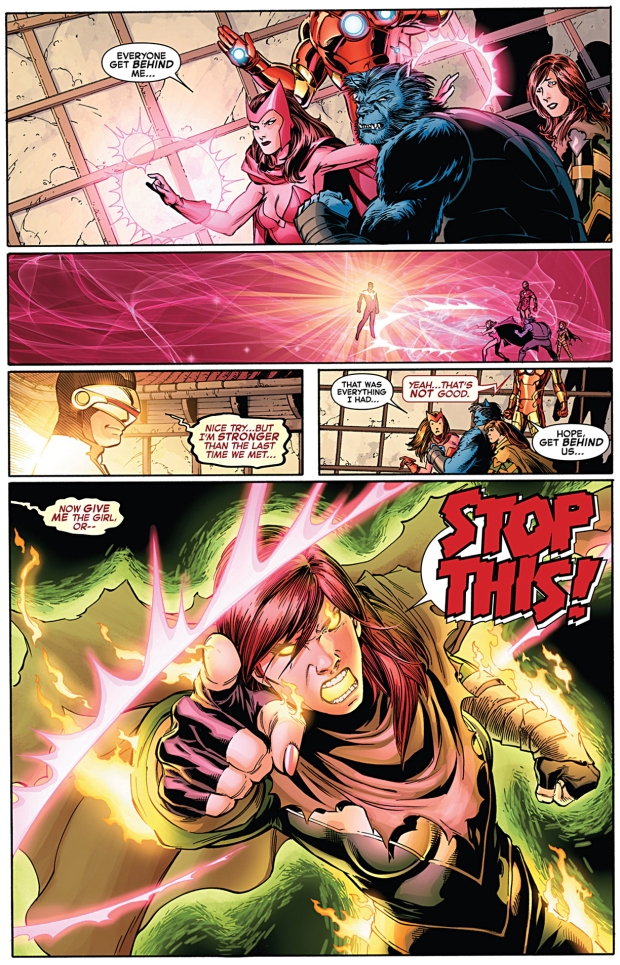 hope summers uses chaos fist on phoenix five cyclops