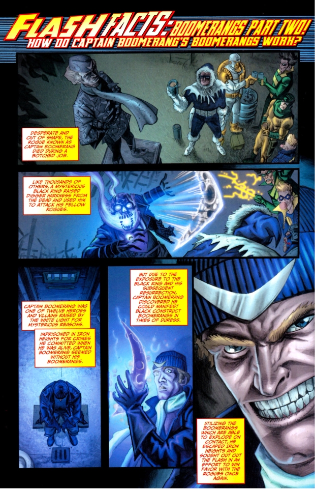 how do captain boomerang's boomerangs work