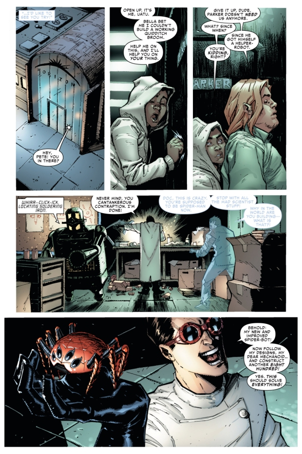 how superior spider-man does his patrols