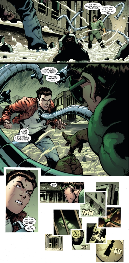 peter parker and otto octavius mental battle