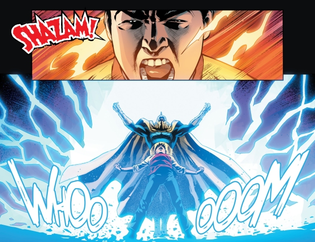 shazam and doctor fate banishes trigon and mister mxyzptlk