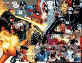 the avengers submits superior spider-man to a scan