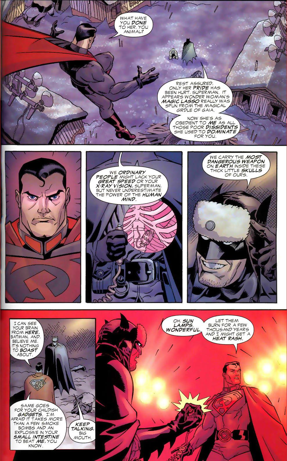 Russian Superman Red Son Batman vs Superman Red Son