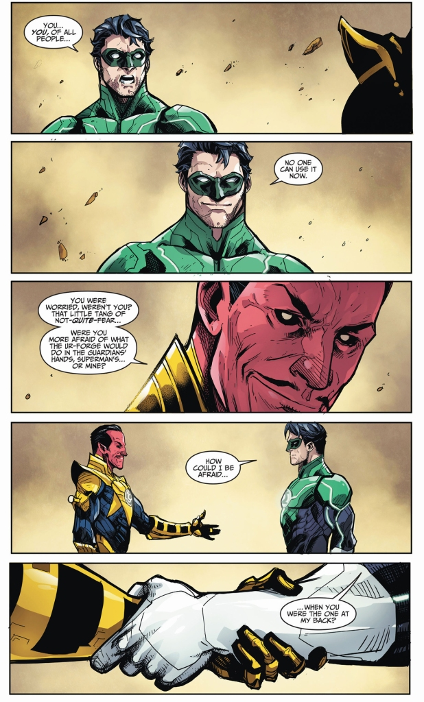 how sinestro gained hal jordan's trust