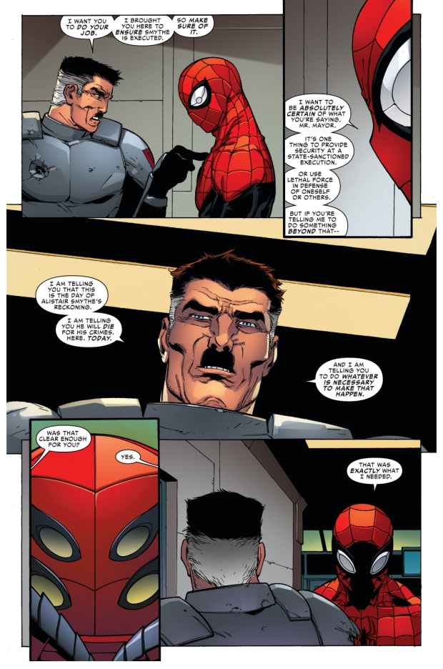 jonah jameson orders superior spider-man to kill