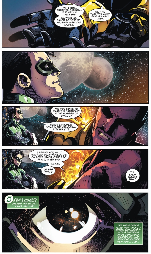 sinestro compares himself to superman