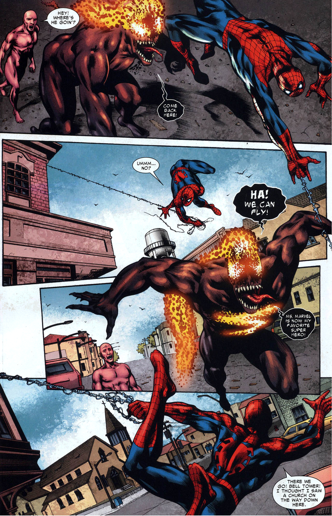 Spider-Man VS Miss Marvel With Symbiote | Comicnewbies